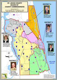 St. Johns County Board of County Commissioners District Map